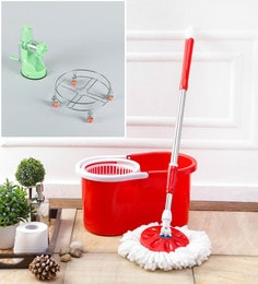 Kingsburry Plastic Red Mop With Free Juicer & Gas Trolley