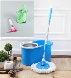 Kingsburry Steel Blue Mop With Free Juicer & Spray Glass Wiper