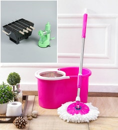 Kingsburry Steel Pink Mop With Free Barbeque & Juicer