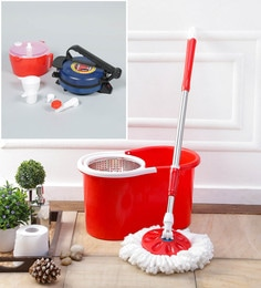 Kingsburry Steel Red Mop With Free Dough Maker & Roti Maker