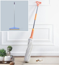Kingsburry Steel Twist & Squeeze Mop With Home Cleaning Wiper