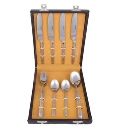 Kishco Limited Luminous Stainless Steel Cutlery Set - Set Of 16
