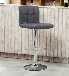 Kitchen/Bar Stool In Grey Leatherette