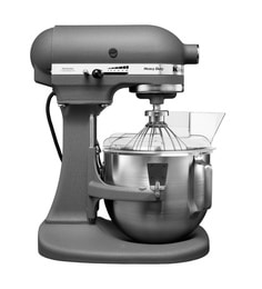 KitchenAid 4.8L Bowl Lift Stand Mixer - 2 Bowls (Grey) 5KPM5BGR