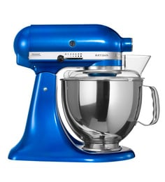 KitchenAid 4.8L Artisan Design Tilt Head Stand Mixer (Electric Blue) 5KSM150PSDEB