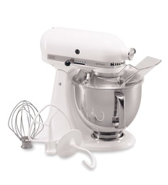 KitchenAid Artisan Design Series 4.8L Tilt-Head Stand Mixer In White (5KSM150PSDWH)