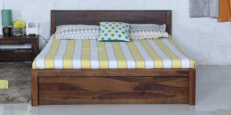 Acropolis Solidwood Solidwood King Bed in Provincial Teak Finish by Woodsworth