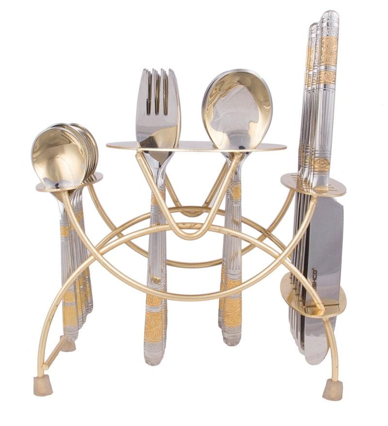 Kishco Limited Luminous Stainless Steel Cutlery Set - Set of 24