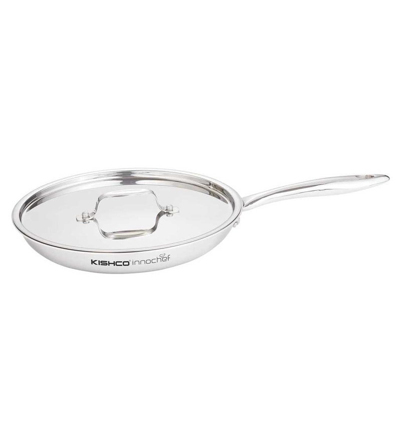 Stainless Steel Frying Pan with Lid by Kishco Limited