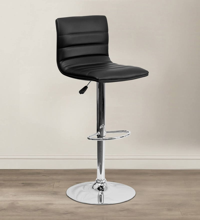 Kitchen/Bar Stool in Black Leatherette by Exclusive Furniture