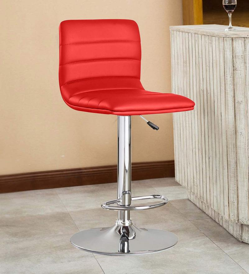 Kitchen/Bar Stool in Red Leatherette by Exclusive Furniture