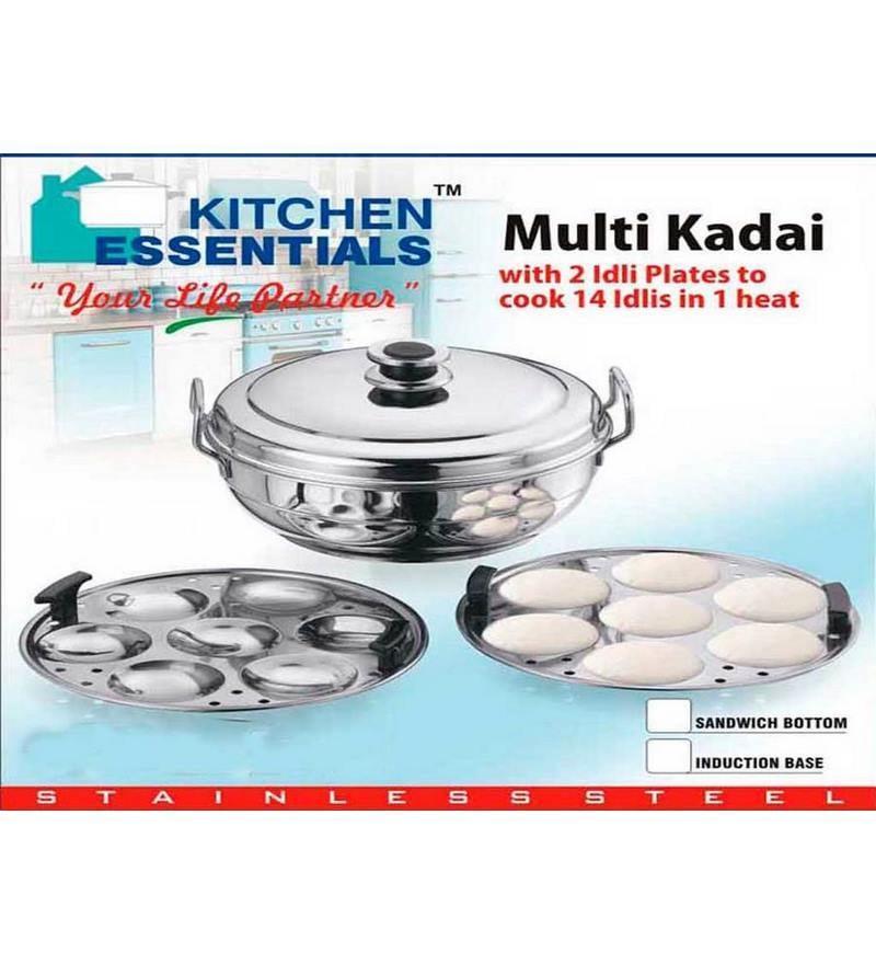 Kitchen Essentials Stainless Steel Induction Idli Steamer