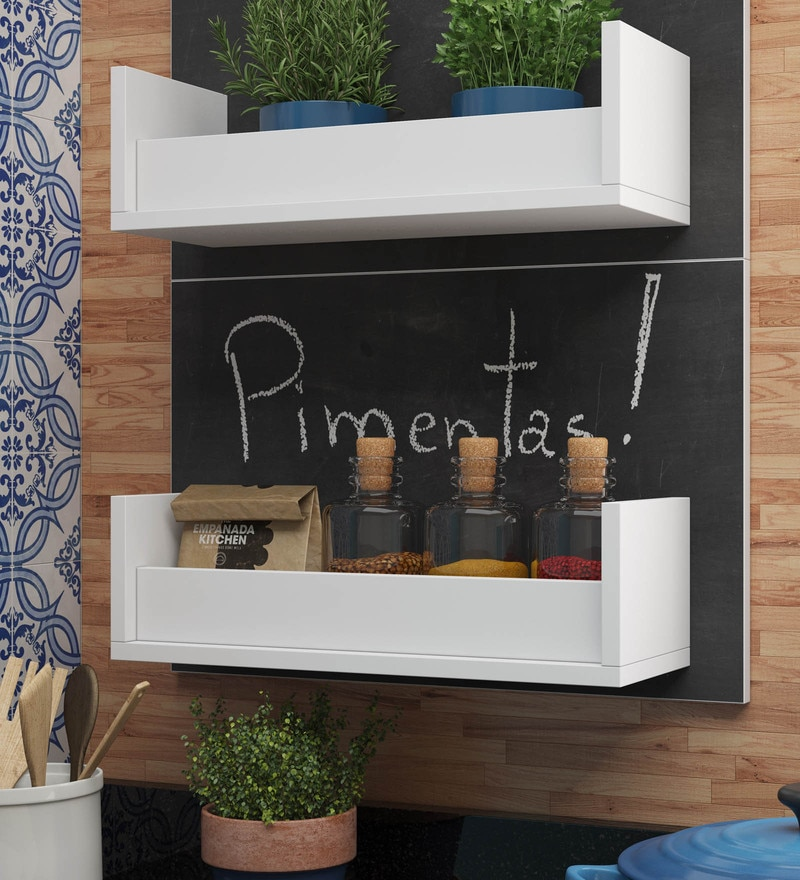 BRV Single Storage Kitchen Shelf with Writing Board