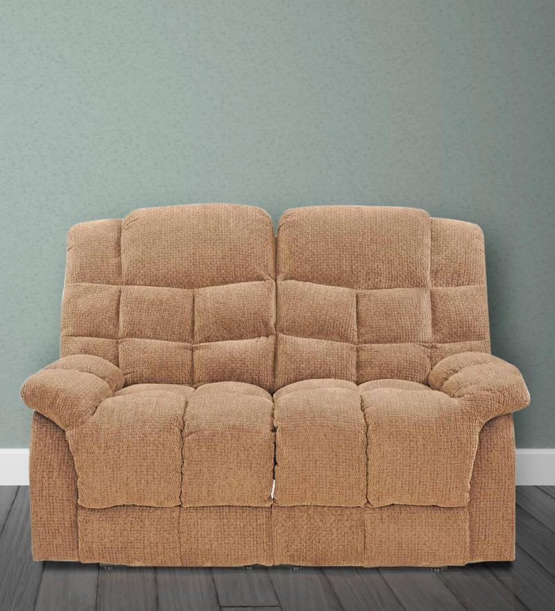 Kiwi Two Seater Recliner in Brown Colour by Royal Oak