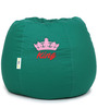 King Embroided Bean Bag with Beans in Green Colour by Can