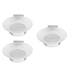 Klaxon Silver Brass Prime Soap Dishes - Set Of 3