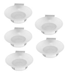 Klaxon Silver Brass Prime Soap Dishes - Set Of 5