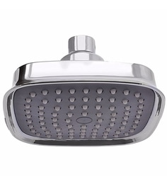 Klaxon Silver Plastic Ruby Overhead Shower With Arm