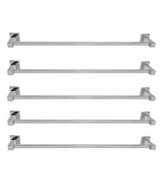 Klaxon Silver Stainless Steel Kristal 101 Towel Holders - Set Of 5