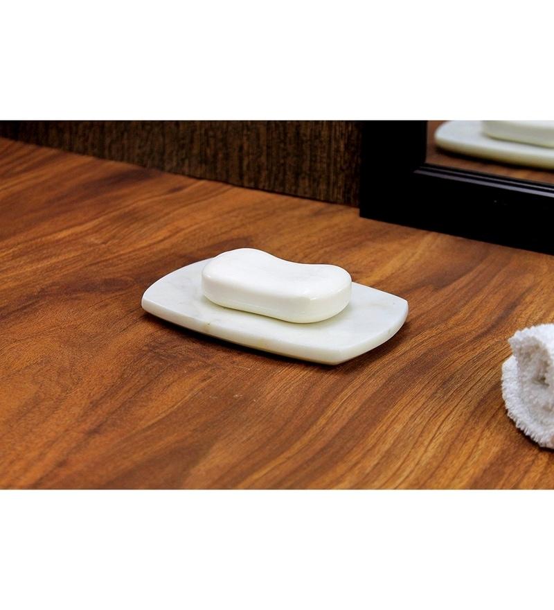 Kleo White Stone Soap Dish