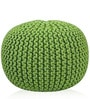 Knitted Pouffe in Green Colour by SWHF