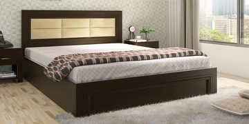 Kosmo New Port Queen Size Bed With Box Storage In Vermount Finish