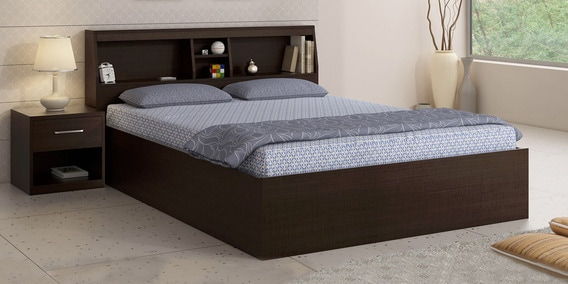double beds buy queen size double beds online best prices pepperfry. Black Bedroom Furniture Sets. Home Design Ideas
