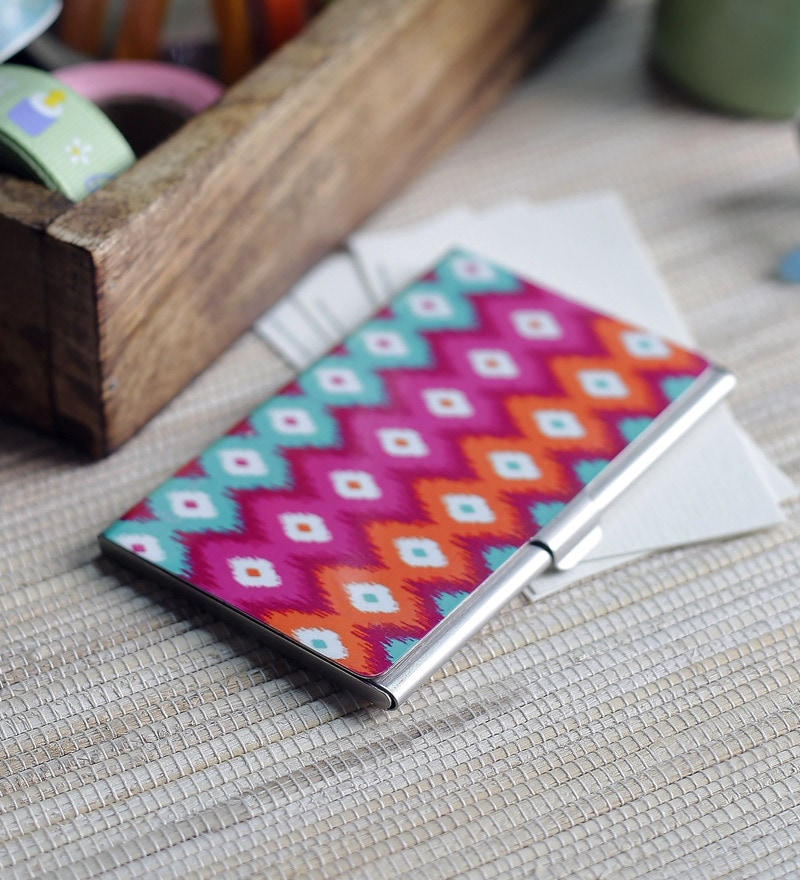 Kolorobia on the Go Metal Multicolour Visiting Card Holder