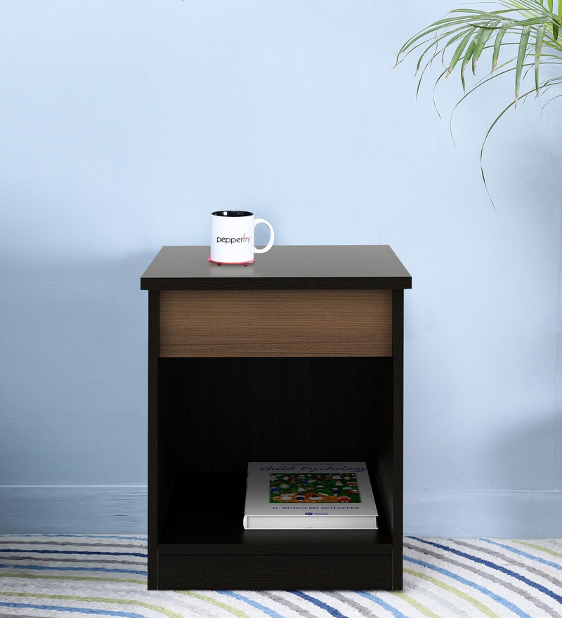 Kosmo Ace Bed Side Table in Natural Wenge Finish by Spacewood