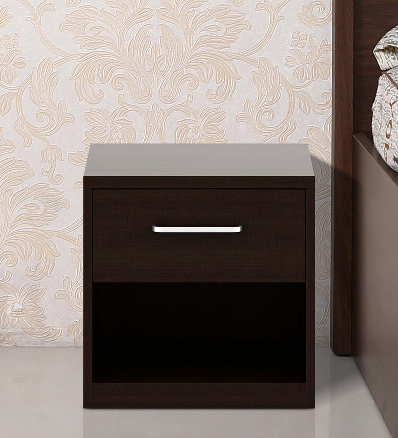 Kosmo Arcade Bed Side Table in Wenge Finish by Spacewood