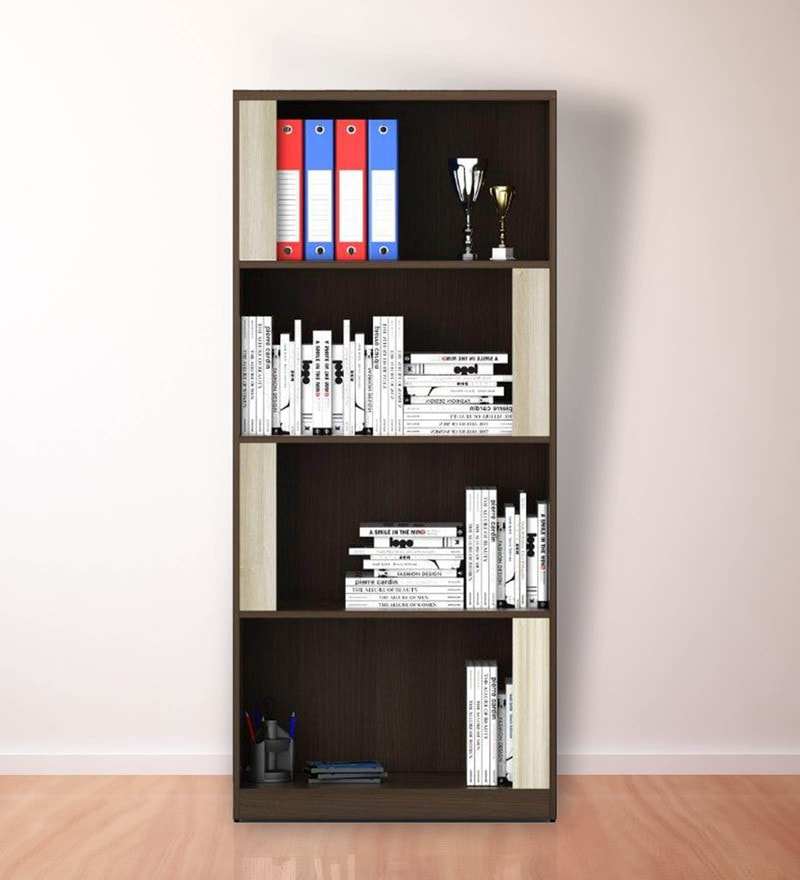 Kosmo Book Shelf in Glossy Mol Acacia Finish by Spacewood