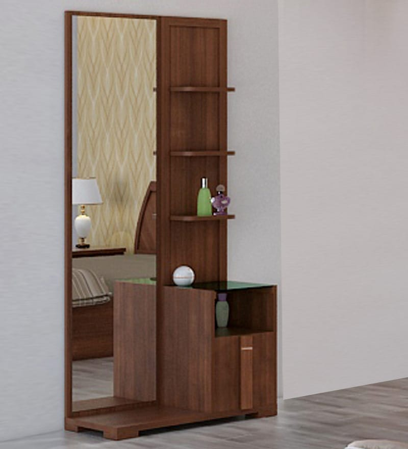 Kosmo Grace Dressing Table in Rigato Walnut Finish by Spacewood