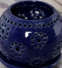 Kokoon Blue Ceramic Tea Light Holder