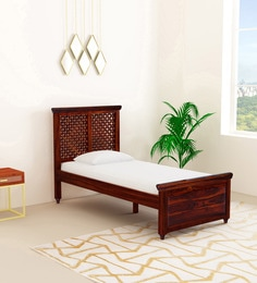 wooden furniture box beds. Krisa Solid Wood Single Bed In Honey Oak Finish Wooden Furniture Box Beds