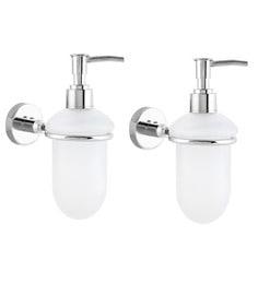 KRM Decor Moonstone Brass Soap Dispenser - Set Of 2