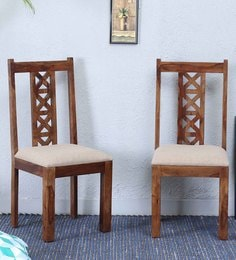 Kryss Dining Chair (Set Of Two)  In Provincial Teak Finish