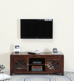 Kryss Entertainment Unit In Provincial Teak Finish