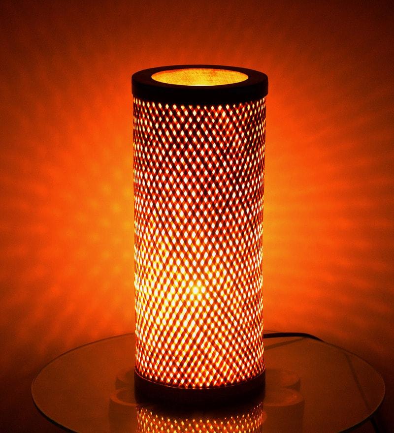 Brown Wood Decorative Table Lamp by Kraftinn