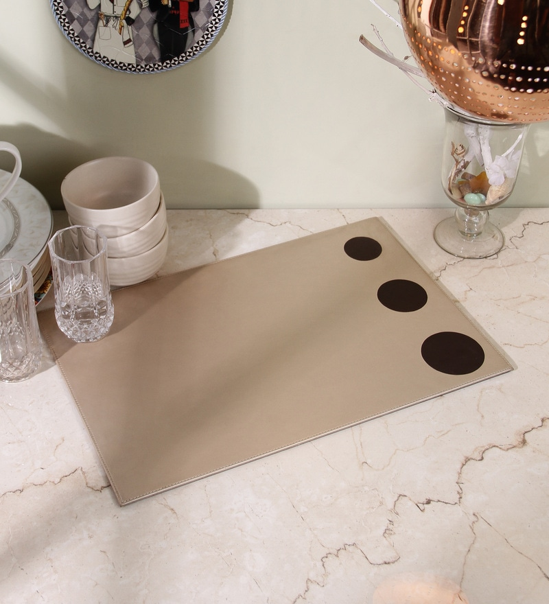 Kraftsmen Gold & Brown PU Placemat
