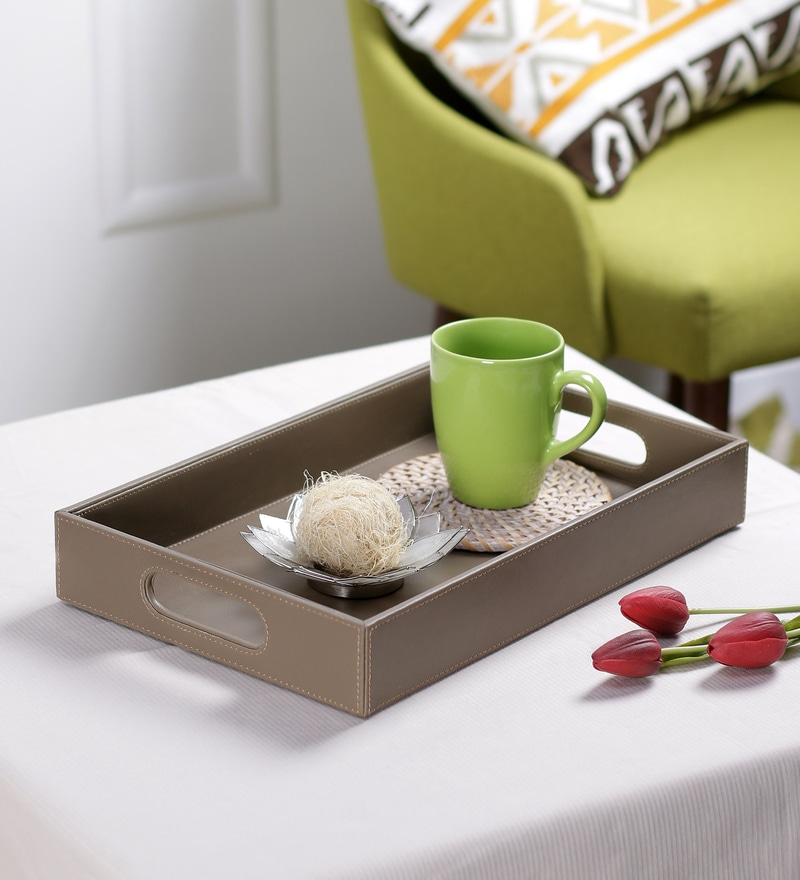 Kraftsmen PU Dark Grey Serving Tray