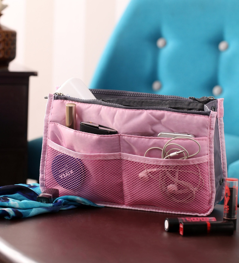 Krio Designs Nylon Pink Purse Switcher Handbag Organiser
