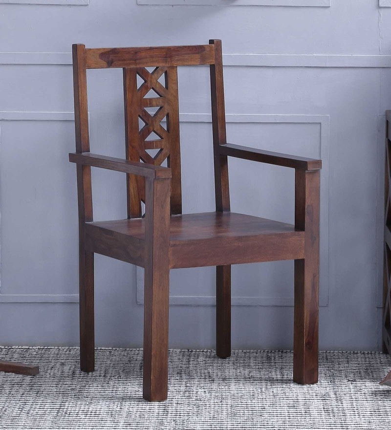 Kryss Arm Chair in Provincial Teak Finish by Woodsworth