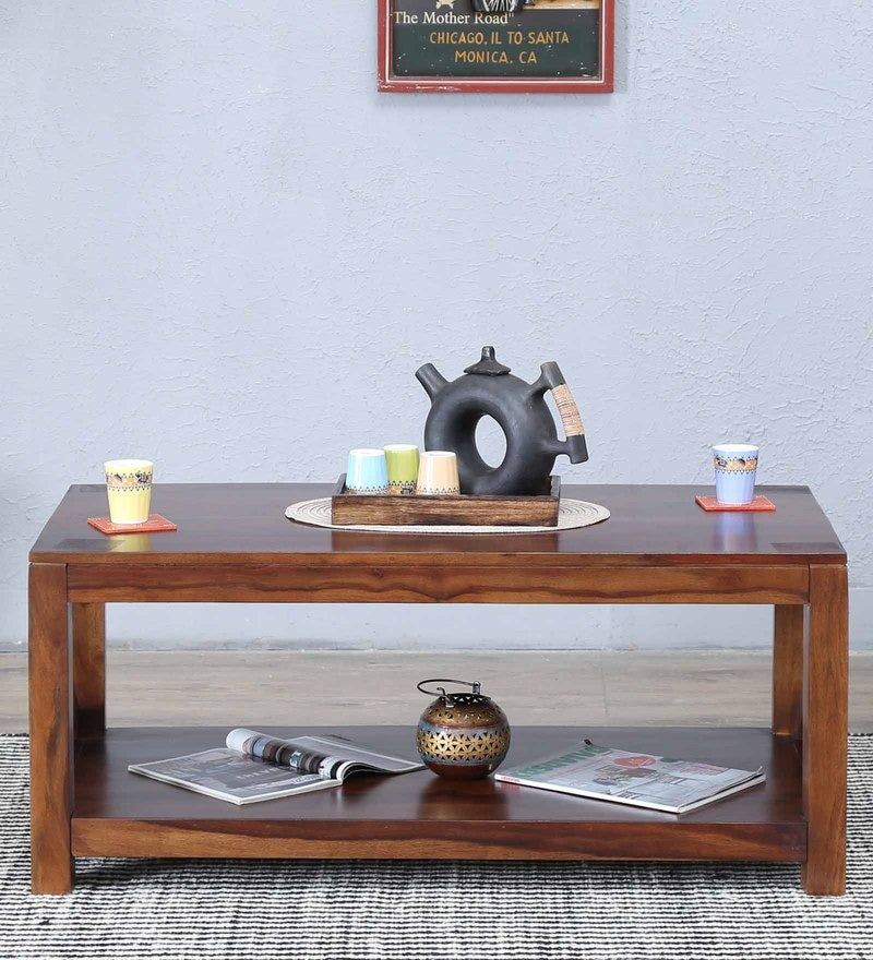 Kryss Large Coffee Table In Provincial Teak Finish by Woodsworth