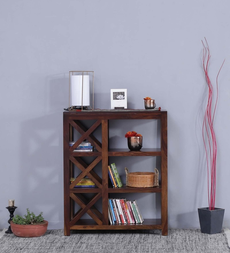 Kryss Display Unit in Provincial Teak Finish by Woodsworth