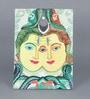 Canvas & Acrylic 12 x 1.5 x 16 Inch Shiv Parvati Original Framed Painting by Krish Art