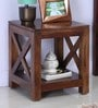 Kryss End Table in Provincial Teak Finish by Woodsworth