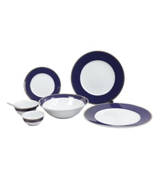 Lakline Porcelain Dinner Set - Set of 33 at pepperfry