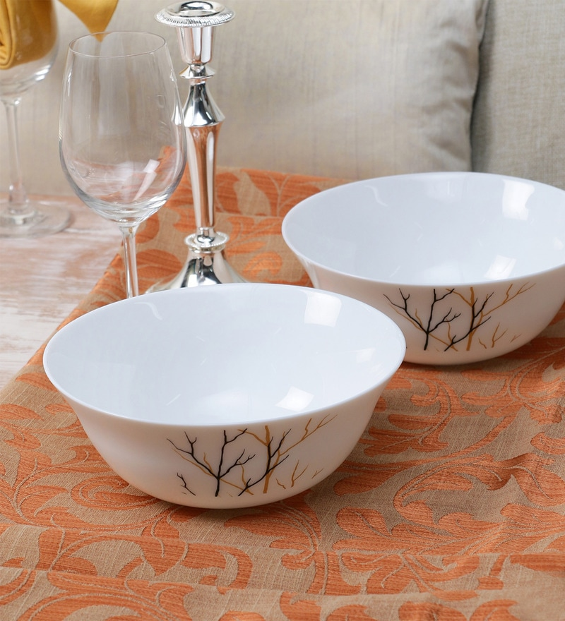 La Opala Diva Golden Fall Opal Ware 1250ML Serving Bowl Set