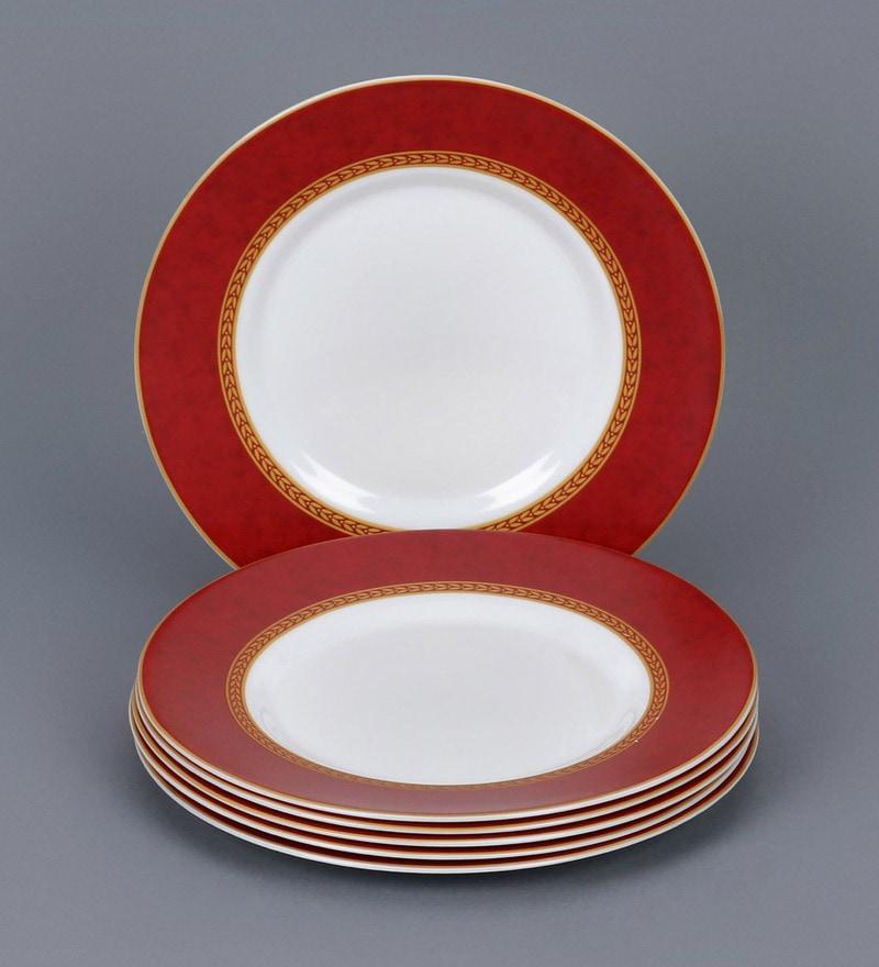 Buy La Opala Diva Sovrana Ameerah Red Opal Ware Quarter  : la opala diva sovrana ameerah red opal ware quarter plates set of 6 la opala diva sovrana ameerah ozb5xp from www.pepperfry.com size 800 x 880 jpeg 138kB