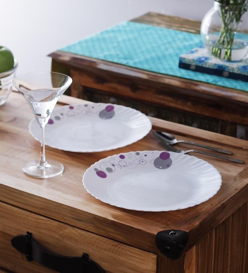 La Opala Trendy Haze Opalware Plate - Set of 6